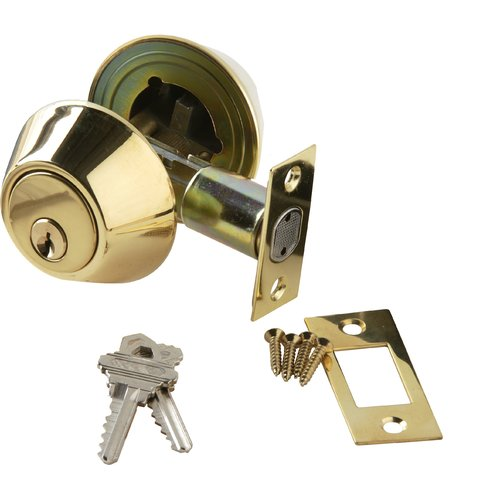 BRASS Accents Double Cylinder Deadbolt