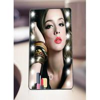 16LED Desktop Makeup Mirror Adjustable Light Touch-screen Beauty Mirror Black