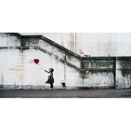 South Bank London Graffiti Attributed To Banksy Poster Print By  Anonymous