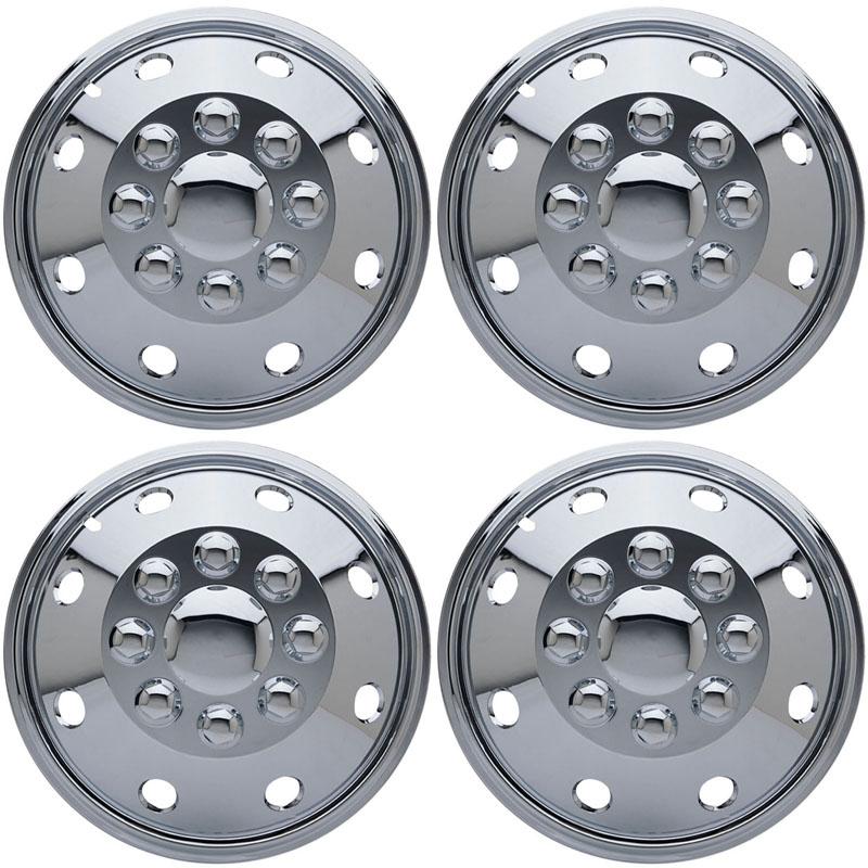 and Durable Plastic 4pcs 16 Dually Steel Wheel Simulators 8 Lug 8 Hand Hole Skins Liners Covers R16