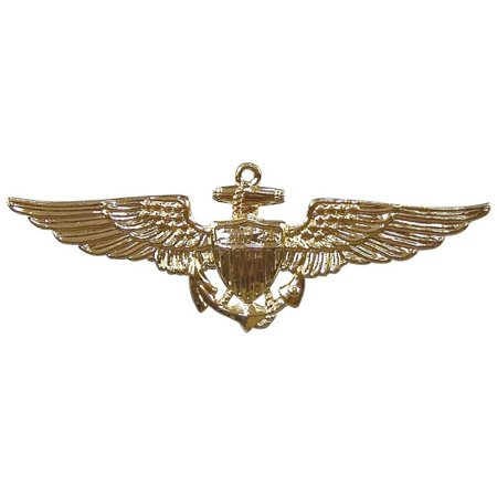 Military Naval Aviator Pin-On Insignia (Naval Aviator Wings)