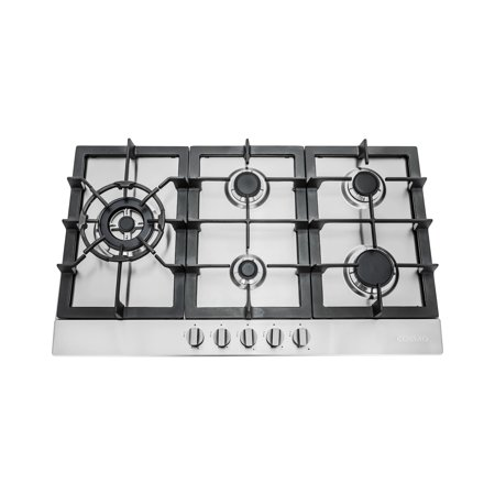 30 in. Gas Cooktop with 5 Sealed Brass Burners in Stainless Steel