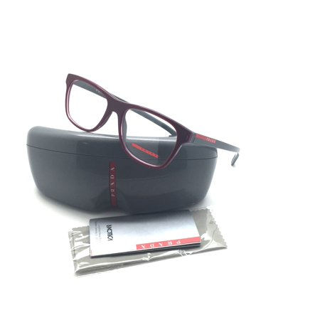 227f2468278e Prada Sports Square Plastic Red Grey Eyeglasses VPS 01F TIP 1O1 53MM Italy  - Walmart.com