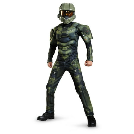 Halo Master Chief Boys Xbox Muscle Costume (Master Chief Gloves)