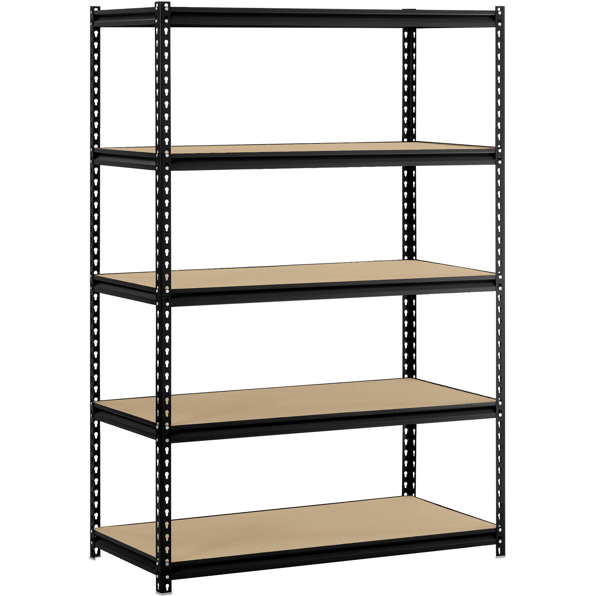 Edsal 5 shelf heavy duty steel shelving - Muscle Rack 48 W X 24 D X 72 H 5 Shelf Steel Shelving Black Walmart Com