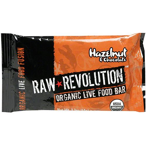 Raw Revolution Organic Live Hazelnut & Chocolate Food Bars, 1.8 oz (Pack of 12)