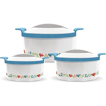 Milton Fionna Insulated 3-Piece Keep Hot / Cold Casserole Set with Stainless Steel Inner 2.5L, 1.5L,