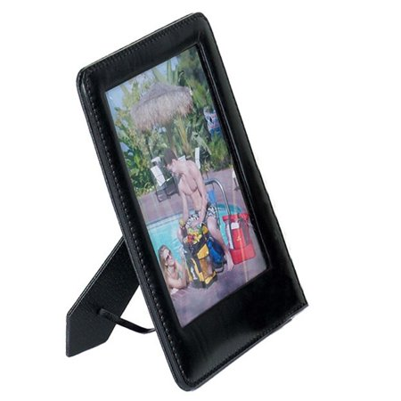 Goodhope Good Hope Leather 4-inch x 5-inch Cowhide Table Picture Frame (Cow Picture Frame)