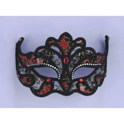 BLACK/RED LACE MASK MA-472