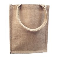 Burlap Tote Bags Jute Book Bag with Full Gusset