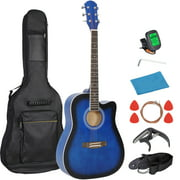 """41"""" Beginners Acoustic Guitar Set w/ Case, Strap, Tuner,Strings for Beginners Starter Kids Girls Youths Students Blue"""