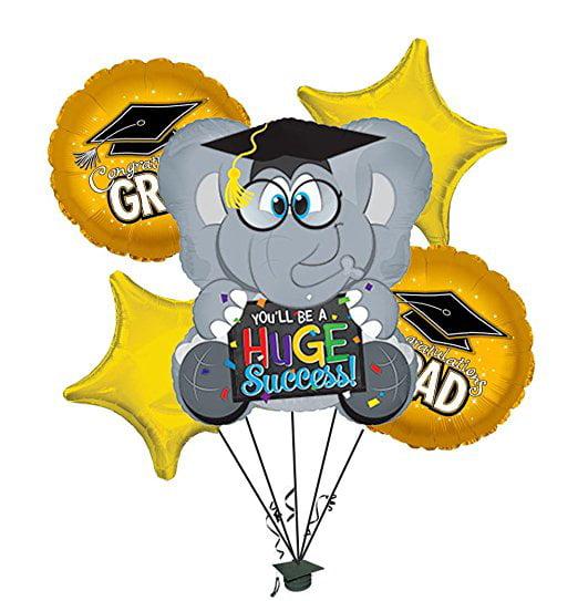 """Graduation """"Huge Success"""" Green Balloon Bouquet"""