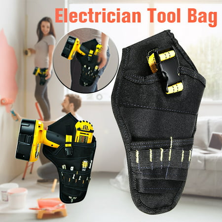Cordless Impact Electric Drill Driver Holster Tool Belt Pouch Bit Holder Bag 600D Oxford Cloth