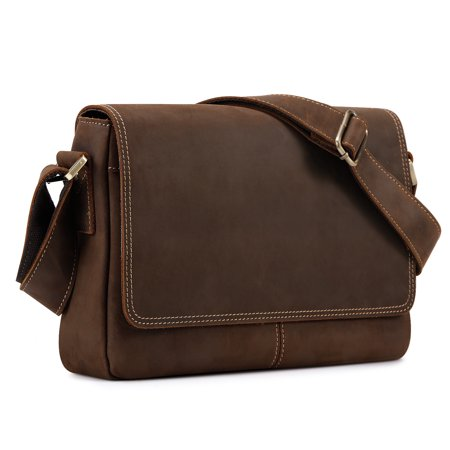 Kattee Crazy Horse Leather Briefcase Business Messenger Bag ()