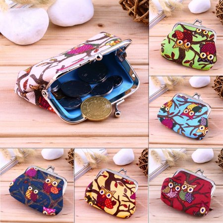 Multi-color Owl Design Coin Money Bag Purse Wallet Canvas For Women Girl Lady - image 7 of 8