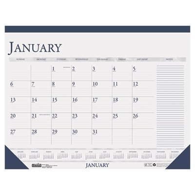 """House of Doolittle 2-Color Monthly Desk Pad Calendar with Large Notes Section, 18.5"""" x 13"""", 2014"""
