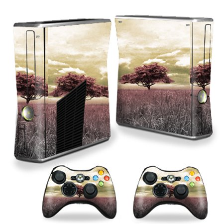 Skin Decal Wrap Cover for Xbox 360 S Slim + 2 controllers Vintage covid 19 (Xbox 360 Surround Sound coronavirus)