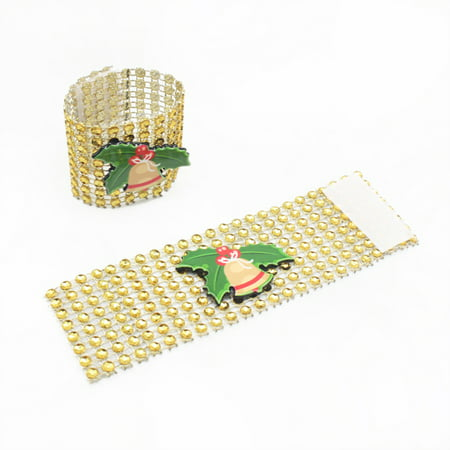 LeKing 9PCS Christmas Napkin Rings Santa Serviette Buckles Holders for Dining Table Holiday Decorations - image 3 of 9