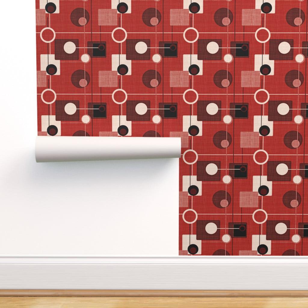 Picture of: Peel And Stick Removable Wallpaper Retro Atomic Mid Century Modern Geometric Walmart Com Walmart Com
