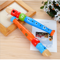 matoen Colorful Wooden Trumpet Buglet Hooter Bugle Educational Toy Gift For Kids