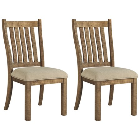 Signature Design by Ashley Grindleburg Dining Side Chair Set of 2 Light Brown Signature Two Light