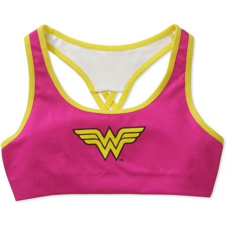 DC Superhero Wonder Woman Girls Bra, Seamless Racer Bra (Little Girls & Big Girls)