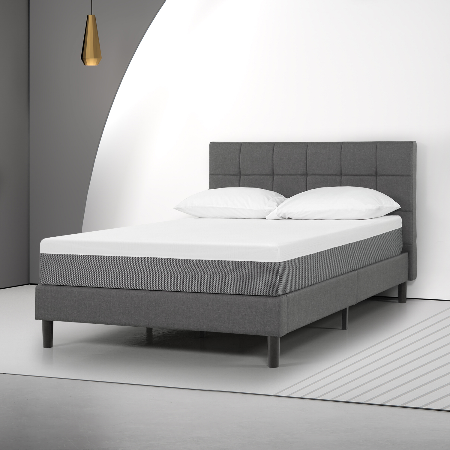 "Spa Sensations by Zinus 10"" Eco-Sense Memory Foam Mattress ..."