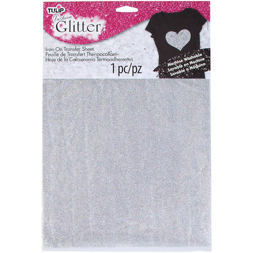 "Tulip Iron On Glitter Transfer Sheet, 8.5"" x 11"", 1pk"
