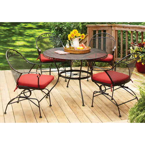 Better Homes and Gardens Clayton Ct 5-Piece Dining Set, Red, Box 2 of 2