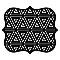 9 x 8 x 0.06 in. Designer Mouse Pads, Geometric Triangles