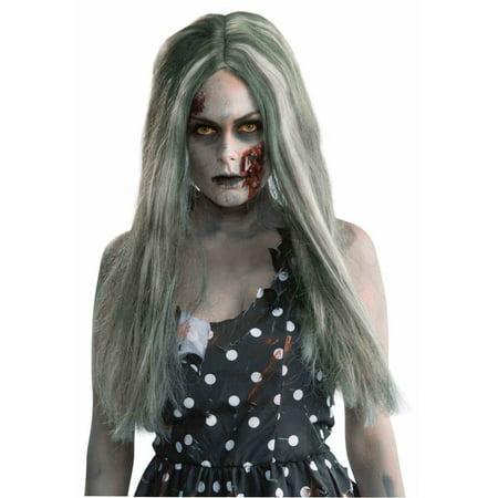 Creepy Zombie Adult Halloween Costume Accessory - Zombie Wig