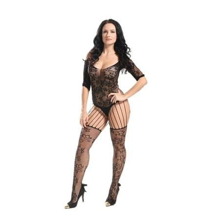 0d1c459eed0 Women Sexy Erotic Lingerie Fishnet Bodystocking - Walmart.com