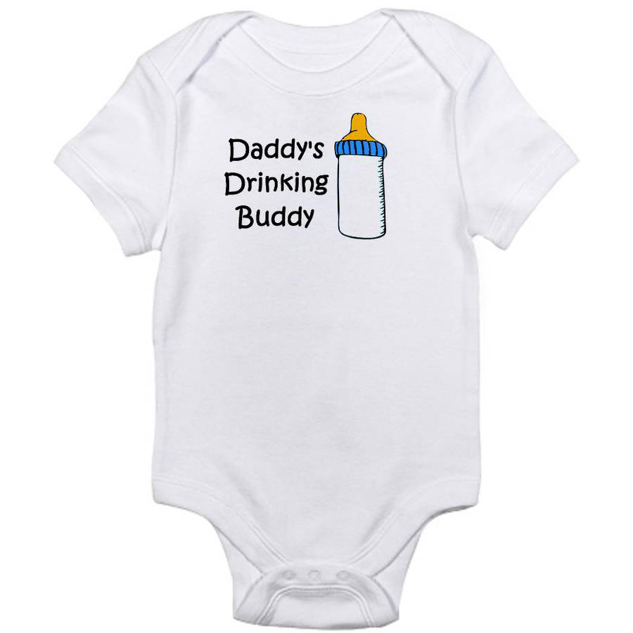 CafePress Newborn Baby Drinking Buddy Bodysuit