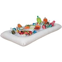 White Inflatable Buffet Cooler, 52 x 28in