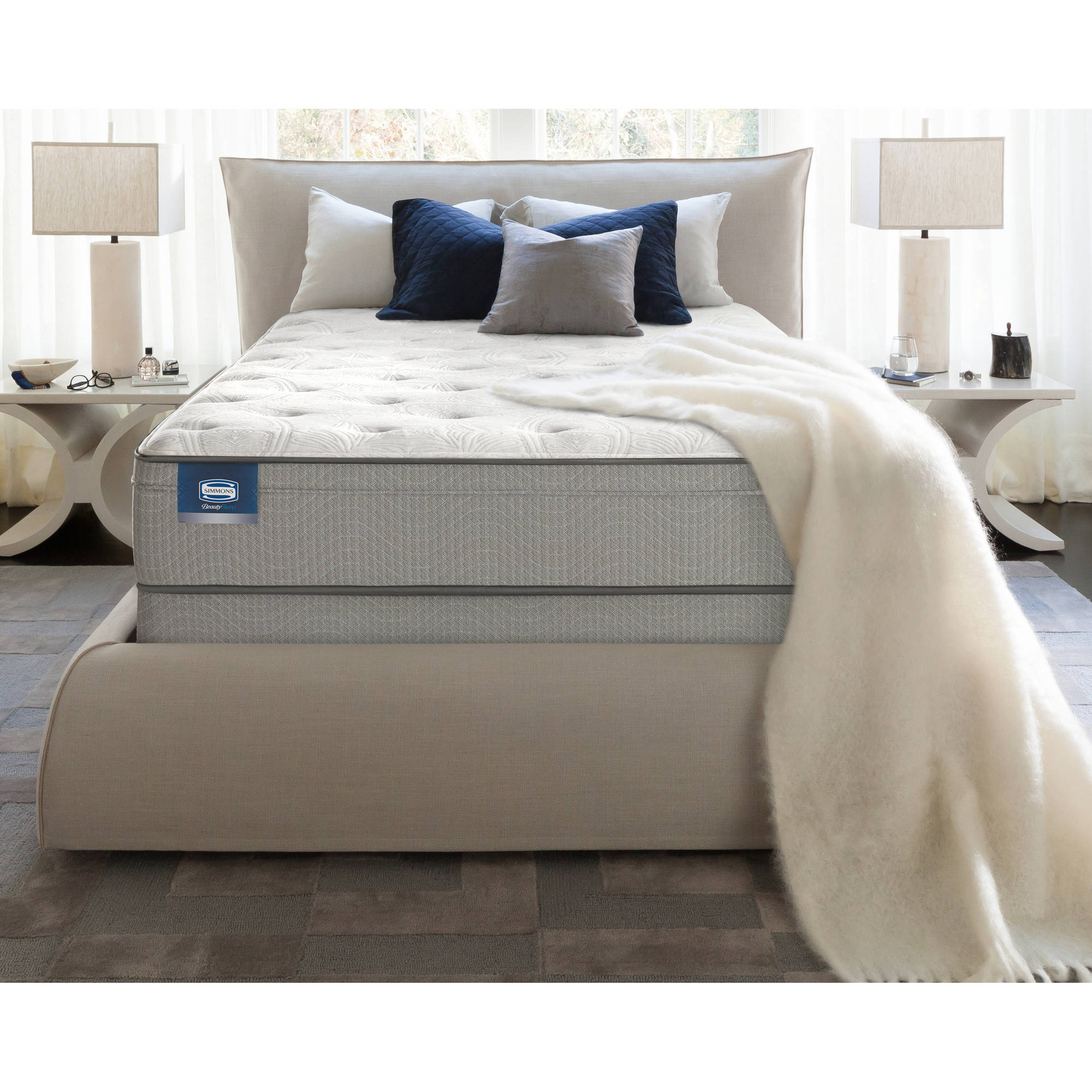 "BeautySleep Peach 14"" Plush ET Mattress, Multiple Sizes"
