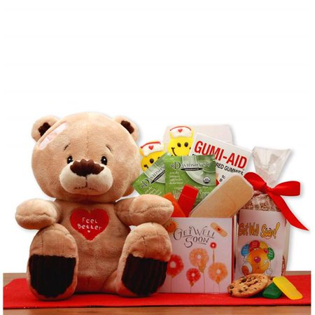 Gift Basket Drop Shipping 813513 Get Well Soon Teddy Bear Gift Set