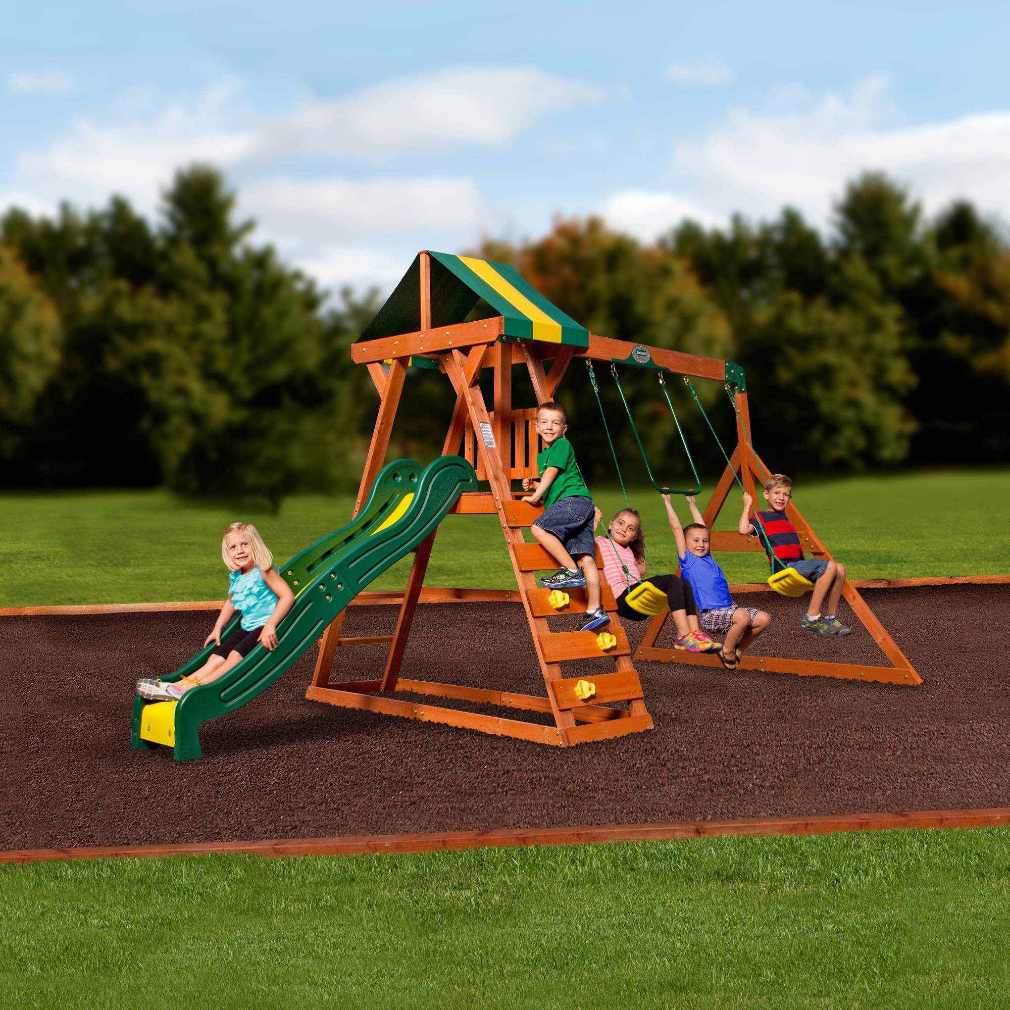 kids slide swing discovery acrobat weston itm outdoor cedar set sets playground backyard bar