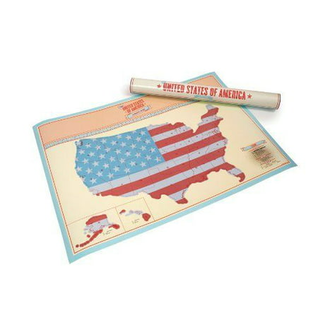 Scratch Off United States Of America Map USA Travel Edition Map - Us map poster walmart