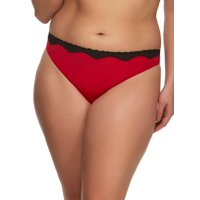 Paramour by Felina | Evie Micro & Lace Thong | Panty | Mid Rise | Stretch