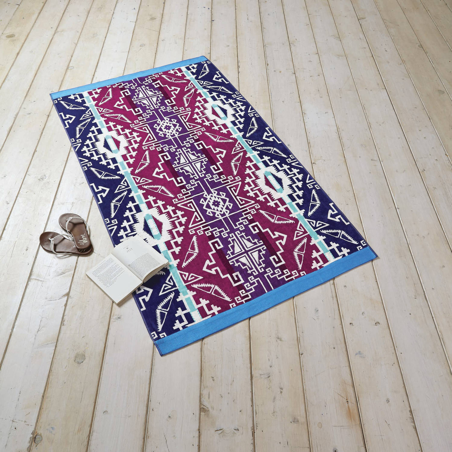 Better Homes And Gardens Oversized Southwest Purple Beach Towel