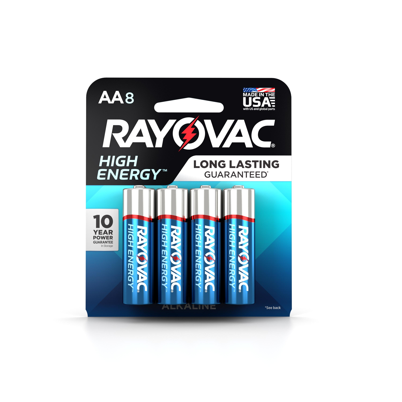 Rayovac High Energy Alkaline, AA Batteries, 8 Count