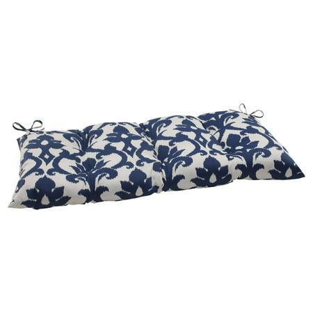 Pillow Perfect Outdoor/ Indoor Bosco Navy Wrought Iron Loveseat Cushion ()