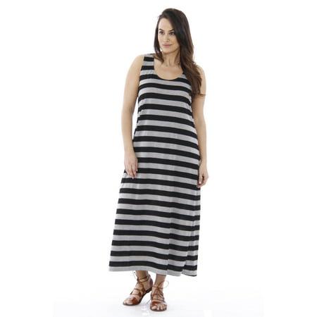 3da50c1b70c Just Love - Plus Size Summer Dresses   Maxi Dress (Black   Heather ...