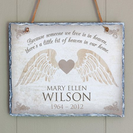 Personalized Memorial Heart Wall Slate