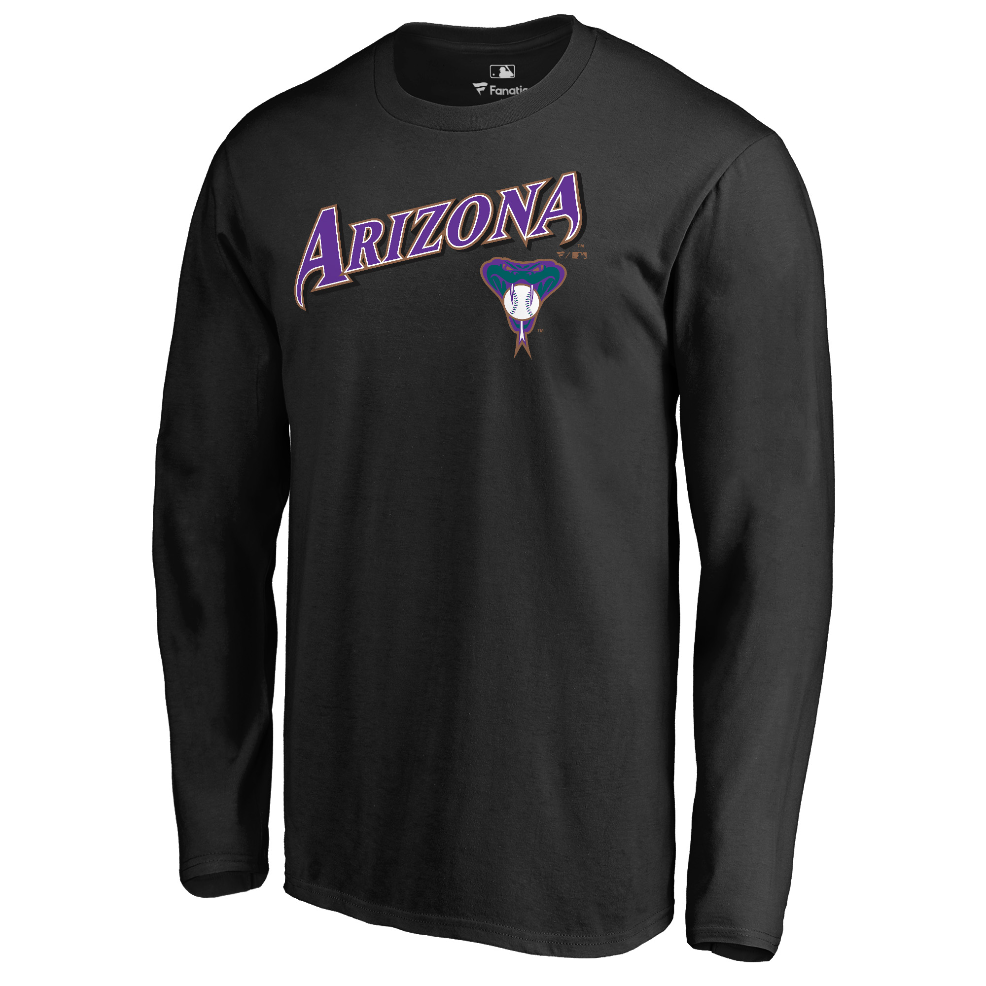 Arizona Diamondbacks Fanatics Branded Cooperstown Collection Wahconah Long Sleeve T-Shirt - Black