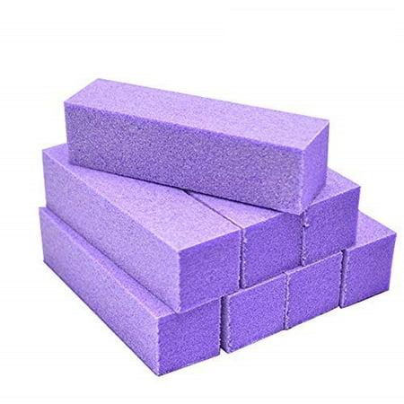 Sanding Nail Polisher 3 Way Polish Block Buffer Lavender, 100/180 grit
