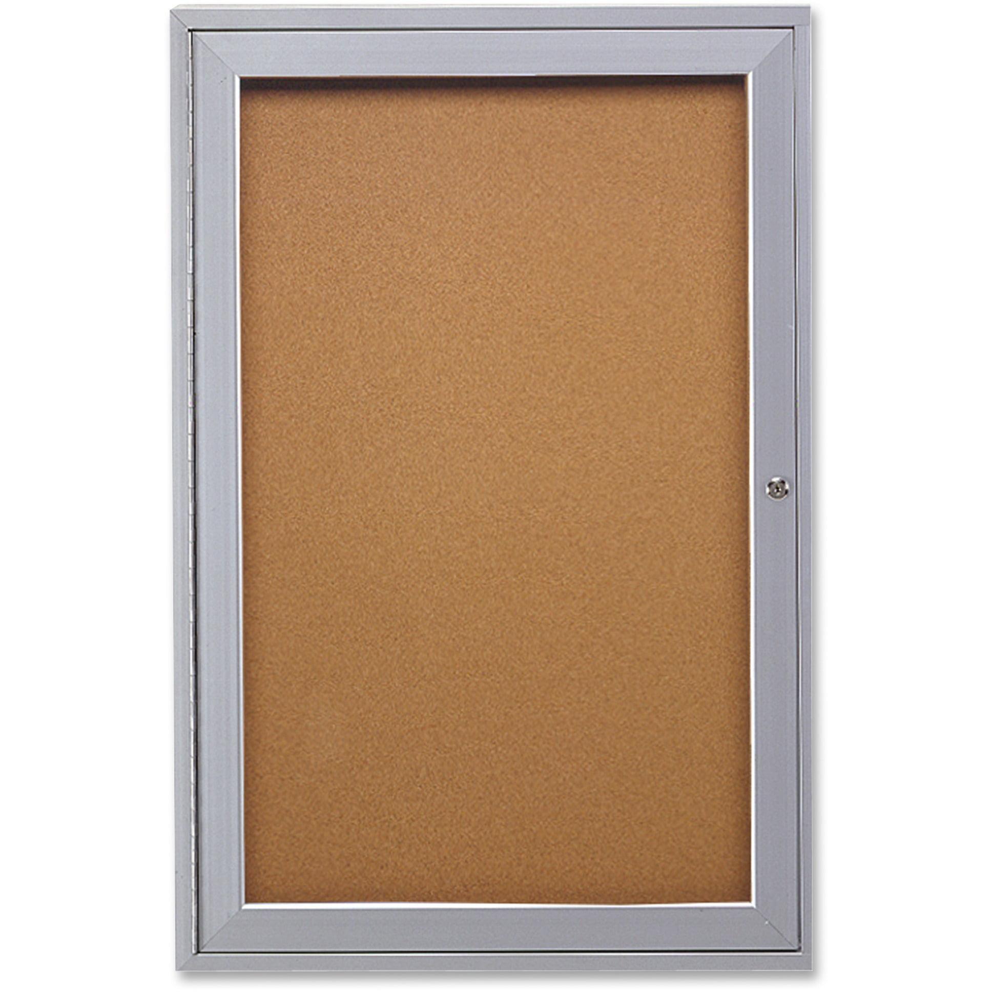 Ghent, GHEPA13624K, 1-door Enclosed Indoor Bulletin Board, 1 Each