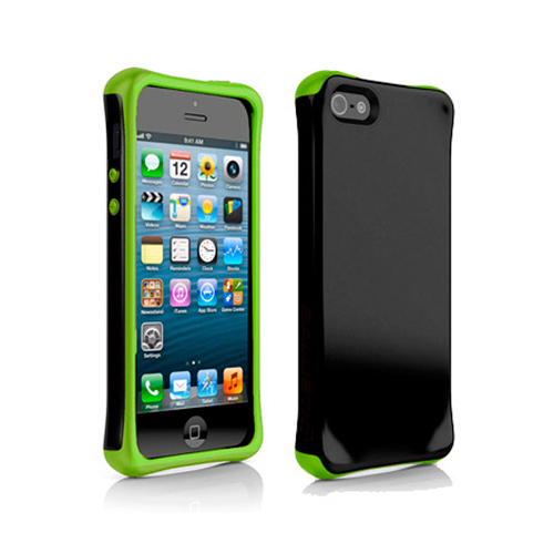 BALLISTIC AP1085-A005 iPhone(R) 5/5s Aspira(R) Series Case (Black/Lime Green)