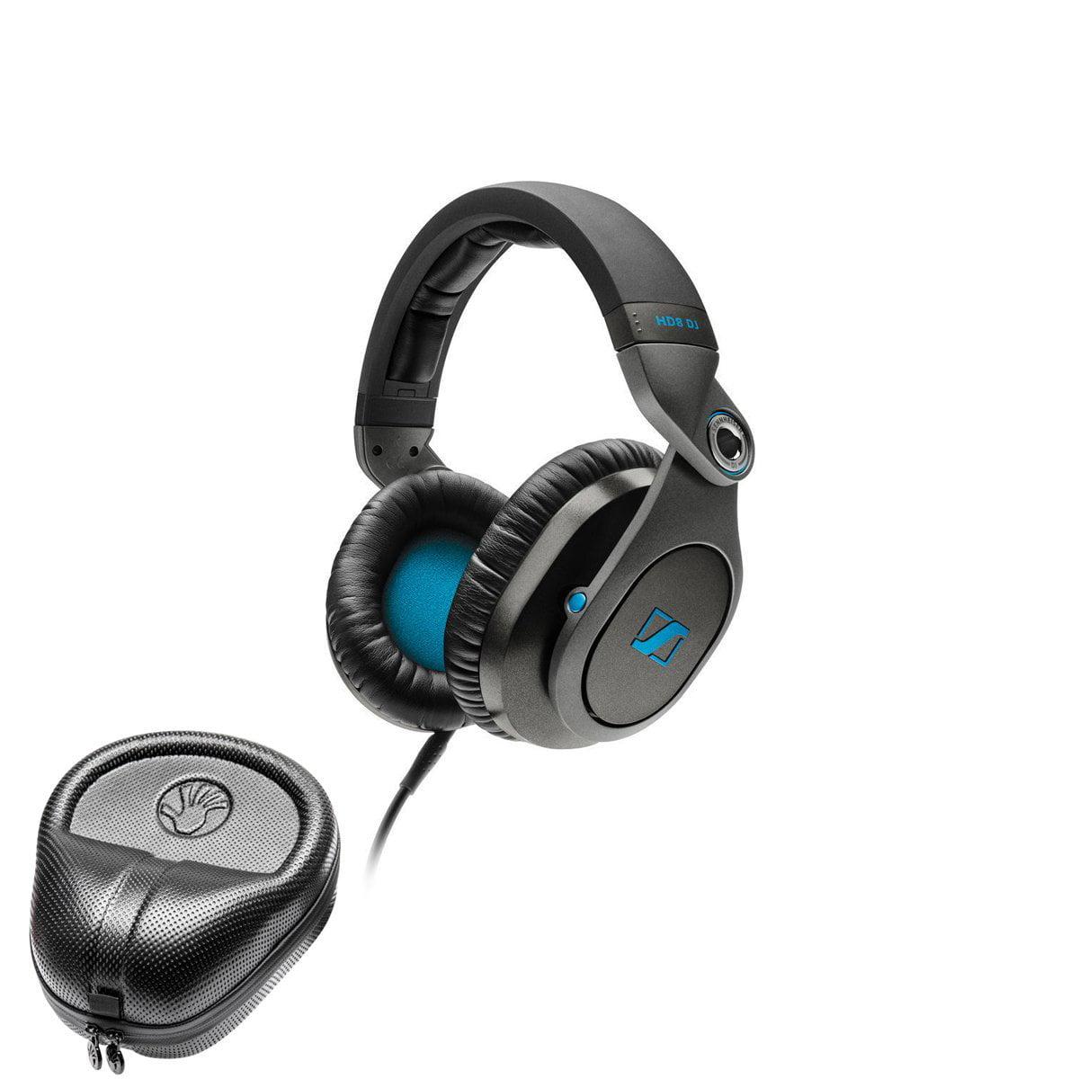 Sennheiser HD8 DJ Headphone + SLAPPA SL-HP-07 HardBody PRO Headphone Case by Sennheiser