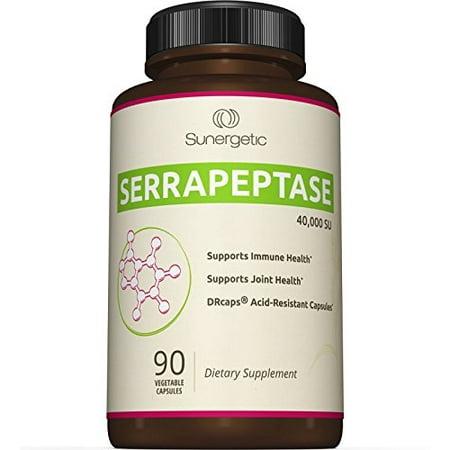 Prime Serrapeptase Supplément Enzyme - Natural Joint, Sinus et soutien immunitaire - Premium Suractivé Serrapeptase Enzymes Formula - 40 000 SU par 90-capsule entérosoluble Capsules végétales